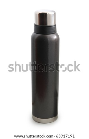 Isolated thermos. Element of design. - stock photo