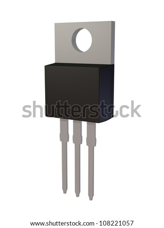 Isolated TO-220AB MOSFET electronic package - stock photo