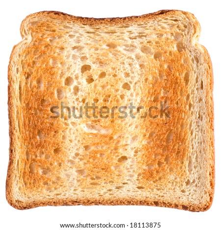 Isolated toast - stock photo