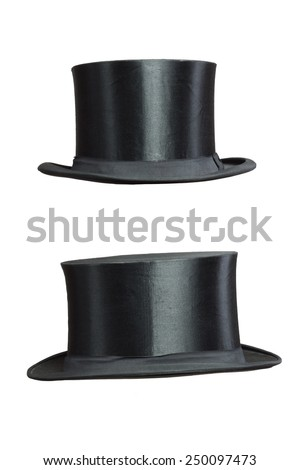 isolated Top Hat on white Background  - stock photo