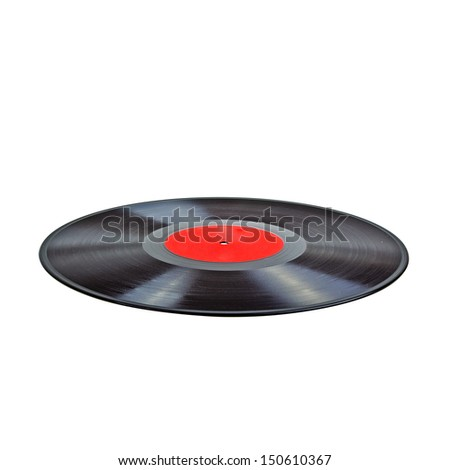 Isolated Vinyl Record (with clipping patch). High quality stock photo. - stock photo