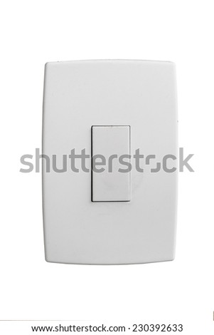 Isolated wallplate isolated on white background - stock photo
