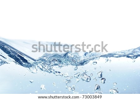 isolated water wave - stock photo