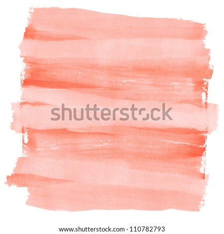 Isolated watercolor background painted on textured paper. - stock photo