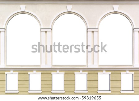 Isolated windows. Element of architecture design. - stock photo
