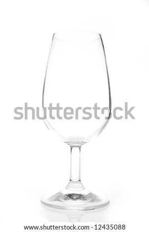 isolated wine glass on a white background - stock photo