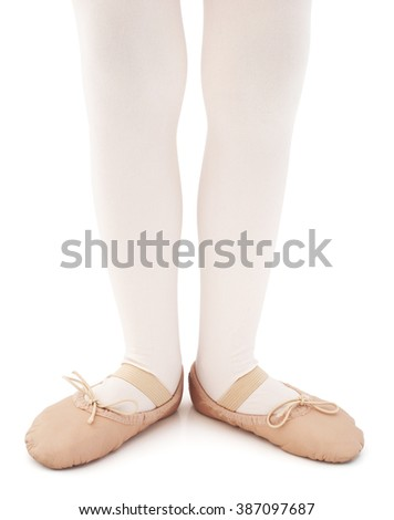 Isolated young ballet dancer on a white background  - stock photo