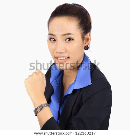 Isolated Young Confidence Business woman - stock photo