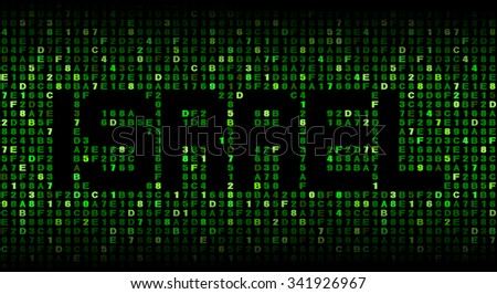 Israel text on hex code illustration - stock photo