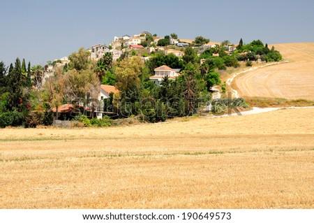 Israeli village in Northern Israel . - stock photo
