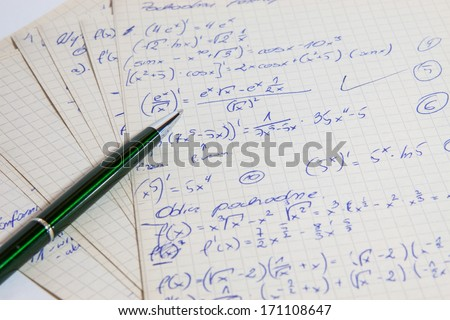 Issue of mathematical operations - stock photo