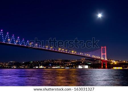 Istanbul Bosporus Bridge  - stock photo