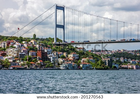 Istanbul Bosporus bridge, Turkey - stock photo