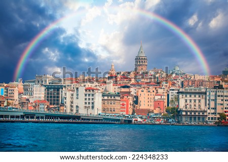 Istanbul  - Galata district, Turkey  - stock photo