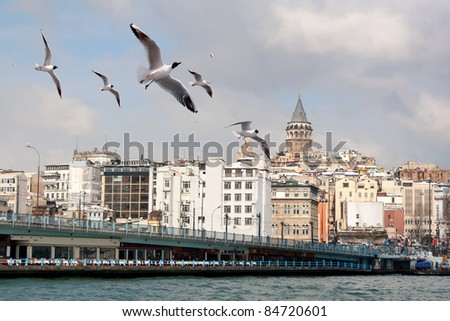 Istanbul in winter - stock photo