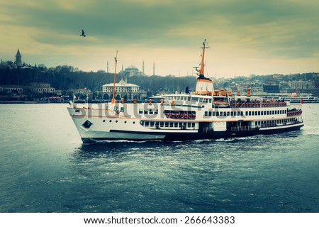 Istanbul Journey. Dramatic scene. - stock photo