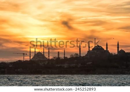 Istanbul Silhouette - stock photo