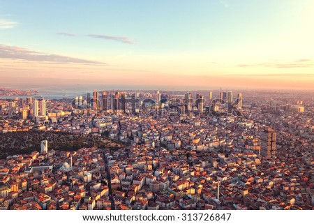 Istanbul skyline - stock photo
