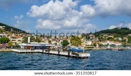ISTANBUL, TURKEY, AUGUST 22, 2014: view of turkish island heybeliada - part of so-called princes islands near istanbul. - stock photo