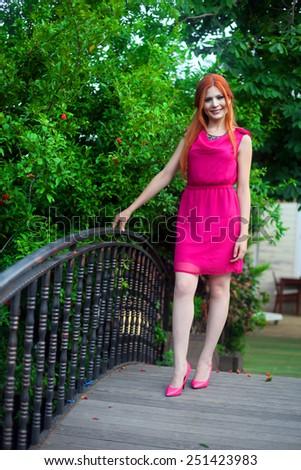 ISTANBUL, TURKEY - JULY 14: Famous Turkish actress and television series star Yeliz Kuvanci portrait on July 14, 2011 in Istanbul, Turkey. - stock photo