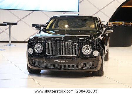 ISTANBUL, TURKEY - MAY 30, 2015: Bentley Mulsanne in Istanbul Autoshow 2015 - stock photo