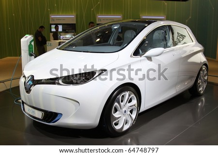 ISTANBUL, TURKEY - NOVEMBER 07: Renault ZOE Preview at 13th International Auto Show on November 07, 2010 in Istanbul, Turkey. - stock photo