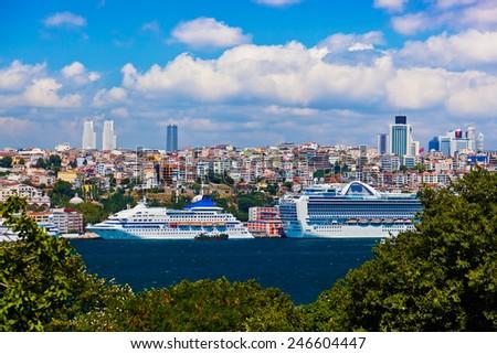 Istanbul view - Turkey travel architecture background - stock photo