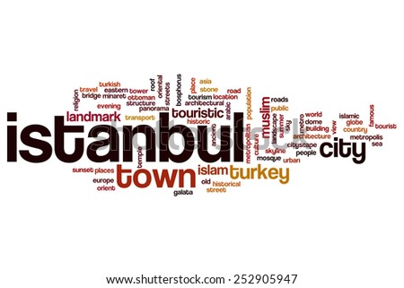 Istanbul word cloud concept - stock photo