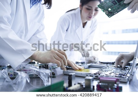 It clogged a lot of romance in the machine.Studying to become a bridge to the future. - stock photo