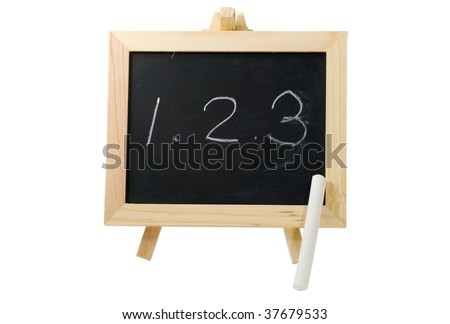 It is a blackboard written with 1,2,3. - stock photo