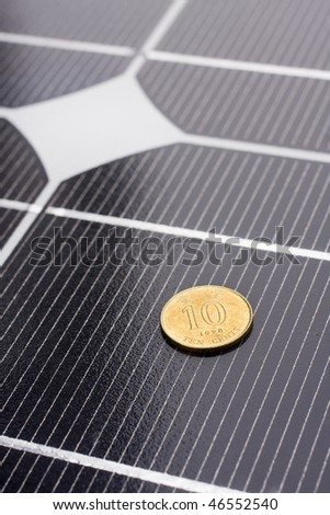 it is a close up of solar panel - stock photo