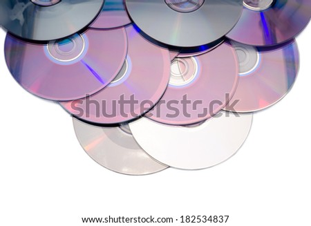 it is a lot of compact disks - stock photo