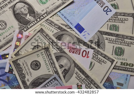 It is a lot of money close up - stock photo