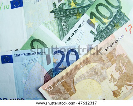 It is a lot of money dollars and euro - stock photo