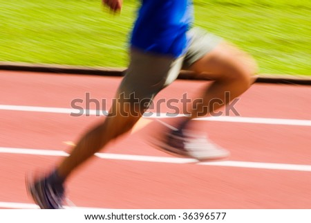 It is a photo of running blur sporter. - stock photo