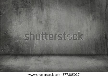 It is Cement wall and floor for pattern and background. - stock photo