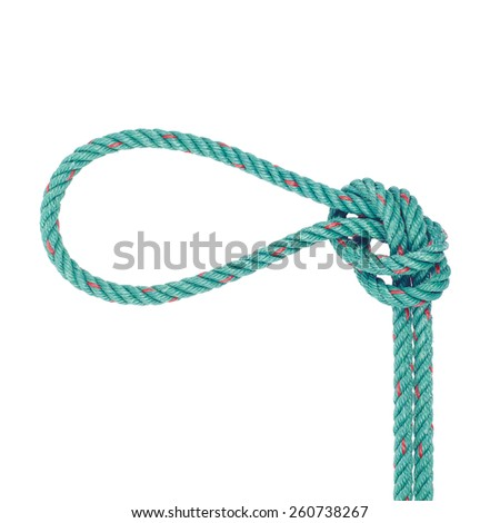It is Noose isolated on white. - stock photo