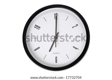 It is 7 o`clock - stock photo