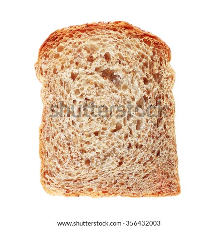 It is Sliced whole wheat bread isolated on white. - stock photo
