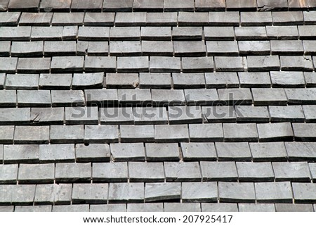 It is wooden roof for pattern and background. - stock photo