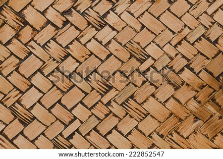 It is Woven bamboo texture for pattern and background. - stock photo