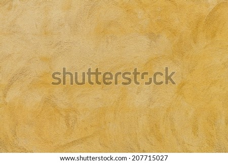 It is yellow cement and concrete wall for pattern and background. - stock photo