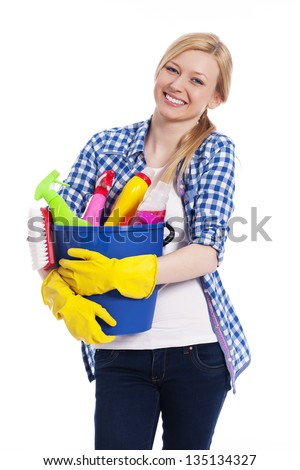 It's time for spring cleaning - stock photo