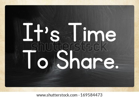 it's time to share concept - stock photo