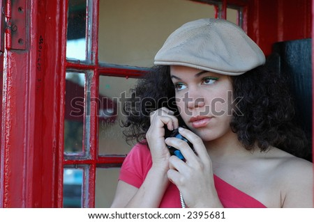 It's too pretty of a day to be breaking up. - stock photo