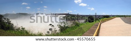 Itaipu dam, Brasil - stock photo