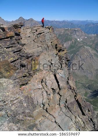 Italian Alps, Western Alps, Monviso region - stock photo