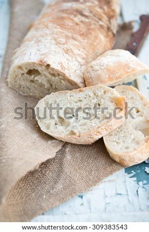 Italian bread ciabatta - stock photo