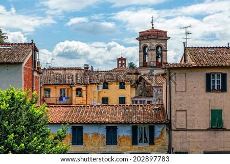 Italian cityscape. Lucca. - stock photo