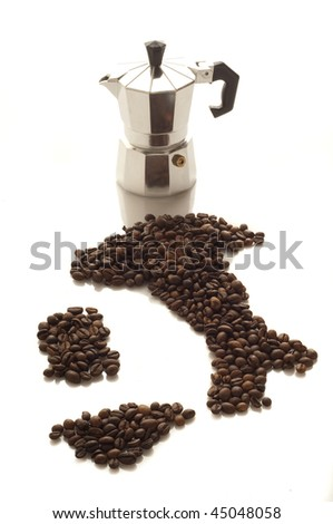 italian coffee - stock photo